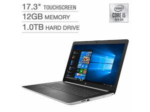 """HP 17.3"""" Touch Screen Laptop - 10th Gen Intel Core i5-10210U 17-by2075cl Notebook PC Computer 1TB 12GB Memory, Backlit Keyboard"""