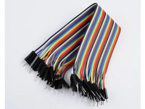40pcs 2.54mm 1P-1P Dupont Wire Jumper Cable Ribbon Line Male to Male 20cm for Arduino Breadboard