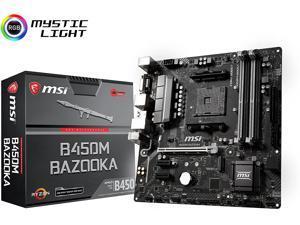 MSI B450M BAZOOKA MicroATX AMD AM4 1st, 2nd and 3rd Gen DDR4 M.2 USB 3.0 Desktop Motherboard