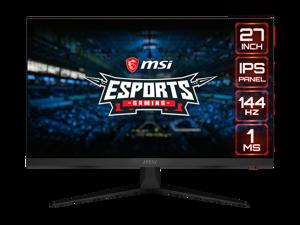 "MSI Optix G271 27"" Full HD 1920 x 1080 1ms (MPRT) / 4ms (GTG) 144Hz 2xHDMI DisplayPort AMD FreeSync Anti-Glare Frameless Design Backlit LED IPS Gaming Monitor"