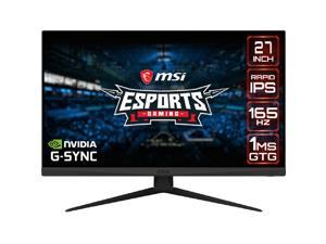 "MSI Optix G273QF 27"" QHD 2560 x 1440 (2K) 1ms (GTG) 165 Hz 2 x HDMI, DisplayPort NVIDIA G-Sync Compatible Rapid IPS Gaming Monitor"