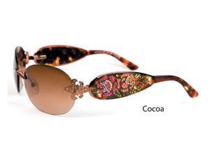 Ed Hardy EHS-014 Unisex Three Old School Roses Designers Sunglasses - Coco