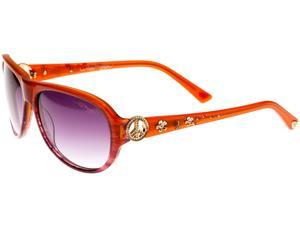 Ed Hardy EHS Peace Women's Sunglasses - Plum