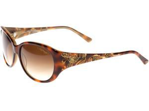 Ed Hardy EHS Big Dragon Women's Sunglasses - Tortoise Brown