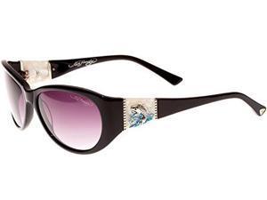 Ed Hardy EHS Jumping KOI Women's Sunglasses - Black