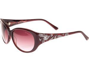 Ed Hardy EHS Big Dragon Women's Sunglasses - Red Burgandy