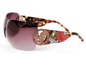 ED HARDY EHS-024 Beyonce 2 Sunglasses - Tort
