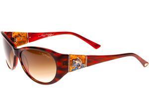 Ed Hardy EHS Jumping KOI Women's Sunglasses - Red Horn