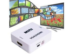 Mini HDMI Output to 1080P VGA Input Converter Adapter with 3.5mm Audio Port for TV PC PS3 Xbox STB Blue-Ray DVD to Laptop HDTV Projector