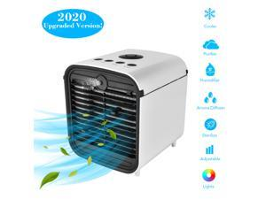 Portable multifunctional  Mini air Air Conditioner, with RGB lamp, aromatherapy function, atomization function, purification function, suitable for indoor and outdoor