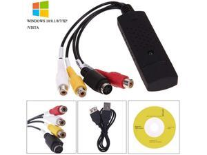 USB 2.0 Audio Video Converter, VHS to DVD Converter Capture Card Adapter Can Digitize Video from Any Analog Source (Including VCR, VHS, DVD), Suitable For Windows 7 8