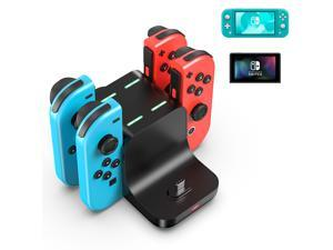 6-In-1 Charging Stand For Nintendo Switch, Fast Charging Charger Stand With Charging Indicator, Multifunctional Docking Station For Switch Lite Console, Switch Pro, Joy Cons Game Controller