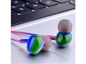 3.5mm in-ear headphones ,with microphone and volume control, subwoofer color wired earplugs compatible with computers, tablets, Samsung, Xiaomi and other mobile phones