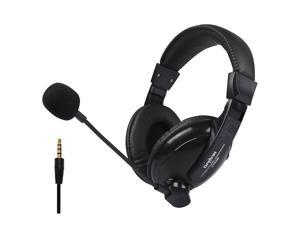 PS4 headset, 3.5mm wired traffic chat online game, with noise reduction microphone and audio control, for PC, laptop, smart phone, tablet