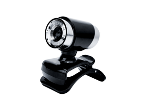 USB Webcam, Full HD 480P Autofocus Computer Camera with Microphone 360 Degree Rotation Adjustment, Compatible with PC, Laptop for Video Conferencing, Online Learning, Online Chat