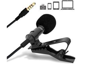 3.5mm wired professional grade lavalier microphone, intelligent noise reduction multi-function amplifier, suitable for mobile Android, tablet PC, camera