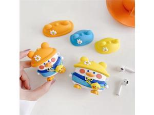Airpods earplug cartoon protective cover, shockproof and waterproof silicone bluetooth earphone protective shell, suitable for Airpods 1 and Airpods 2