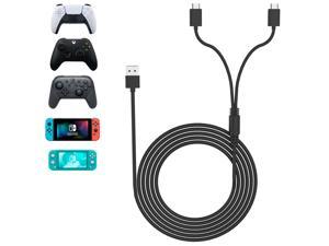PS5 Xbox Series Controller Charging Cable, USB Type-C 2 In 1 15w 10ft Fast Charging Cable For Sony Playstation PS5, Xbox Series Series, Nintendo Switch Lite Controller, Tablet And Smartphone