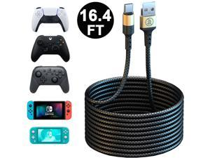 PS5 Xbox Series Controller USB C Cable, 16.4FT Long Type C Fast Charger Charging Cord for Playstation 5, Xbox Series S/X, Nintendo Switch Pro Controller & Nintendo Switch Console & Smartphone