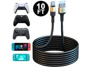 PS5 Xbox Series Controller USB C Cable, 10FT Long Type C Fast Charger Charging Cord for Playstation 5, Xbox Series S/X, Nintendo Switch Pro Controller & Nintendo Switch Console & Smartphone