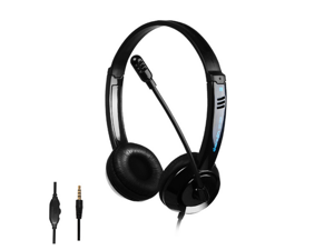 3.5MM Wired Headset with Noise Canceling Microphone and Volume Controller, PC Computer Headphone for UC Softphones Business Skype Lync Conference PS5 PS4 Nintendo Switch/Lite console