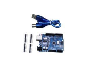3pcs UNO R3 Board ATmega328P ATmega16U2 & Free USB Cable For Arduino UNO R3 With USB Cable NEW