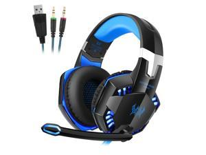 Over-ear Game Gaming Pro Headphone Headset Earphone Headband for G2000 with Stereo Bass Noise Cancelling Blue