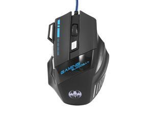 Professional 5500 DPI 7 Button LED Optical USB Wired Gaming Mouse Mice For Pro Gamer USB Wired Mouse For Laptop