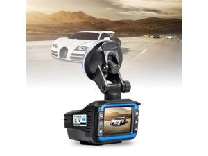 2 in 1 Car DVR Dash Cam Video Radar Speed Detector Night Vision Radar Detection 2 Inch HD LCD Display 720P Support 32G TF black & blue