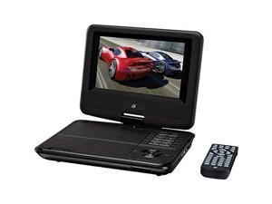 "Gpx Pd701b Portable Dvd Player - 7"" Display - 480 X 234 - Black"