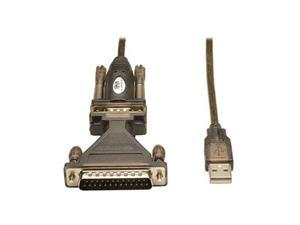 Tripp Lite Model U209-005-DB25 USB-to-Serial Cable Adapter (USB-A to DB25 M/M)