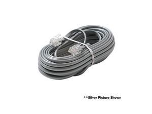 STEREN Model 304-015IV 15 ft. Flat Telephone Line Cord Male to Male