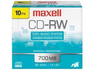 Maxell 630011 700MB 80-Minute CD-RWs (10 pk)