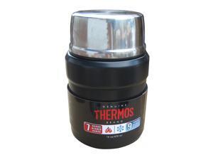 THERMOS STAINLESS KING FOOD JAR 16 OZ MATTE BLACK W/ SPOON SK3000BKTRI4