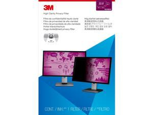 """3M High Clarity Privacy Filters for 22"""" Widescreen LCD, 16:10 Aspect Ratio"""