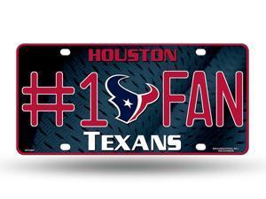Houston Texans #1 Fan License Plate