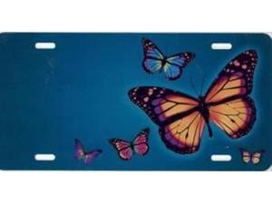 852e07dc4d1749 Butterflies on Teal Airbrush License Plate Free Names on this Air Brush