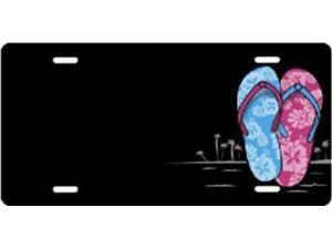ecef68e5dbedc3 Flip Flops Offset Airbrush License Plate Free Names on Air Brush