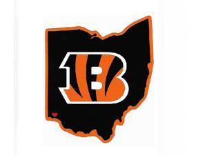 Cincinnati Bengals Home State Vinyl Sticker