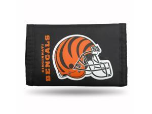 Cincinnati Bengals Official NFL  Nylon Trifold Wallet by Rico Industries