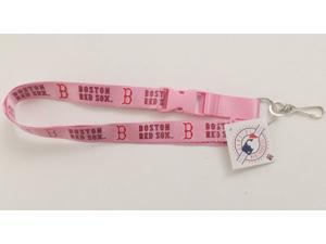 Boston Red Sox Pink Lanyard With Safety Latch