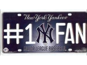 New York Yankees Official MLB License Plate by Rico Industries 284312