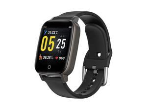NEW T1 SmartWatch   1.3-inch Face - 24/7 Temperature Sensoring - Pedometer, Heart Rate, Blood Pressure