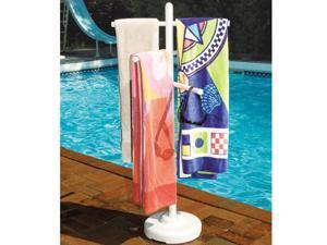 Swimline Hydrotools 89032 Swimming Pool Spa Weighted Poolside Towel Rack