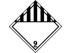 NMC DL50AL-DOT SHIPPING LABELS, CLASS 9, 4X4, PS PAPER, 500/RL (1 ROLL)