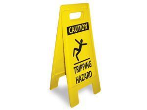 NMC HDFS212-HEAVY DUTY FLOOR SIGN,  CAUTION TRIPPING HAZARD, 24.63X10.75 (1 EACH)