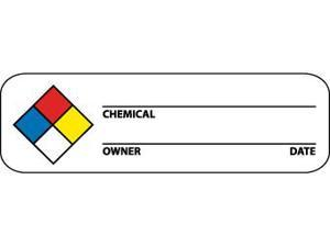 NMC WOL3-LABELS, HAZARD WARNING, NFPA, 1X3, PS PAPER, 500/RL (1 ROLL)