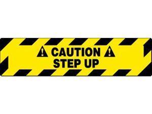 NMC WFS623-FLOOR SIGN, WALK ON, CAUTION STEP UP, 6X24 (1 EACH)