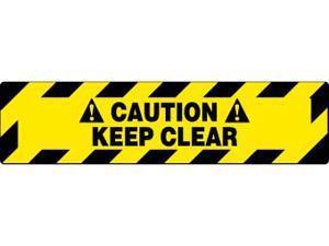 NMC WFS626-FLOOR SIGN, WALK ON, CAUTION KEEP CLEAR, 6X24 (1 EACH)