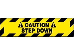 NMC WFS627-FLOOR SIGN, WALK ON, CAUTION STEP DOWN, 6X24 (1 EACH)